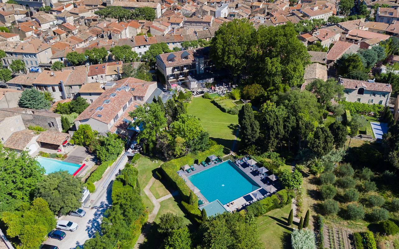 Sky view, hotel Saint-Remy-de-Provence, Hôtel de l'Image.