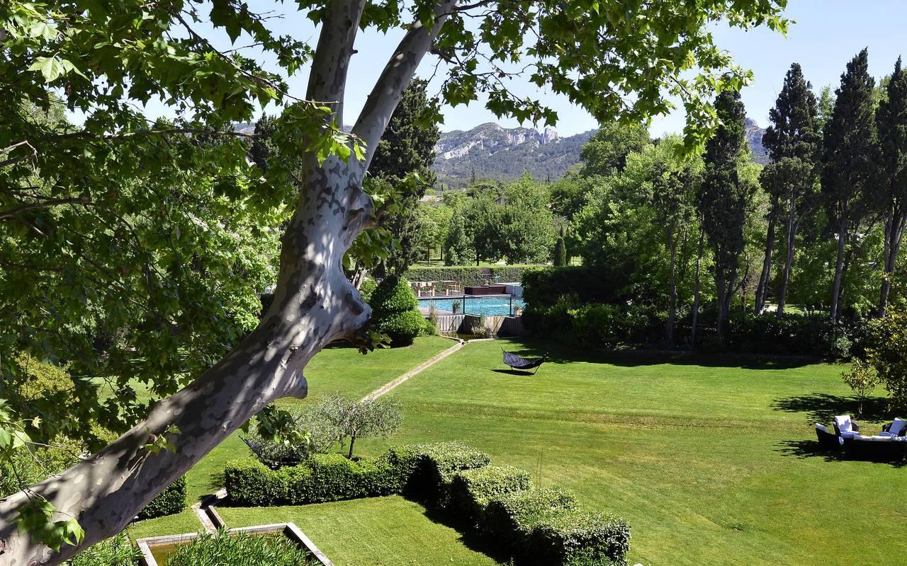 Luxurious parc with pool, hotel restaurant provence, Hôtel de L'Image.