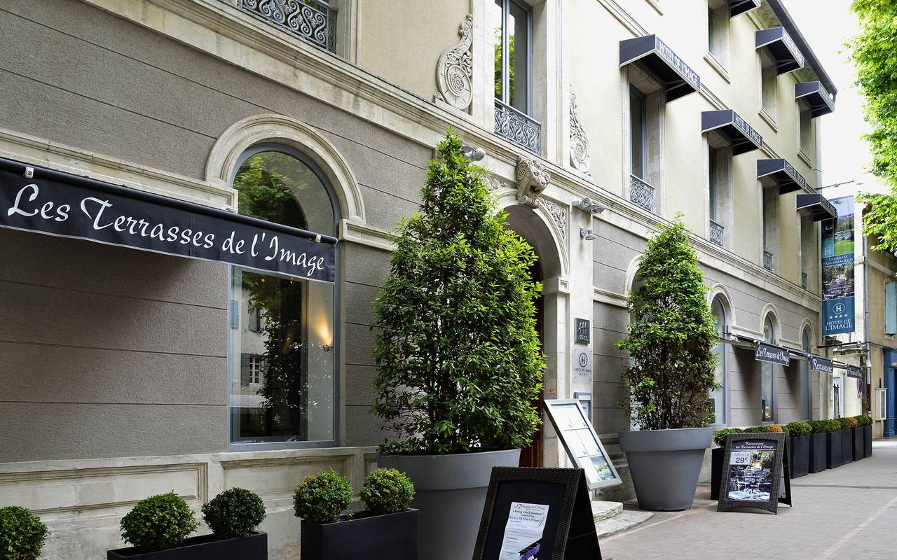 Top of the range hotel and restaurant with a warm atmosphere, hotels in saint remy de provence, Hôtel de L'Image.