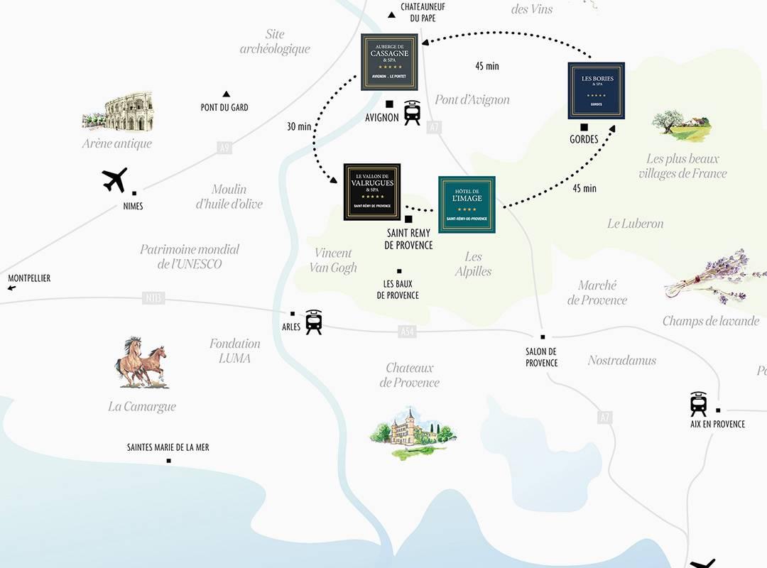 Carte hôtel st rémy de provence