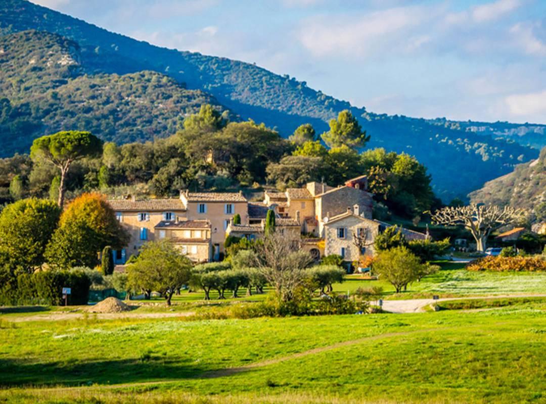Paysage magnifique hôtel spa provence