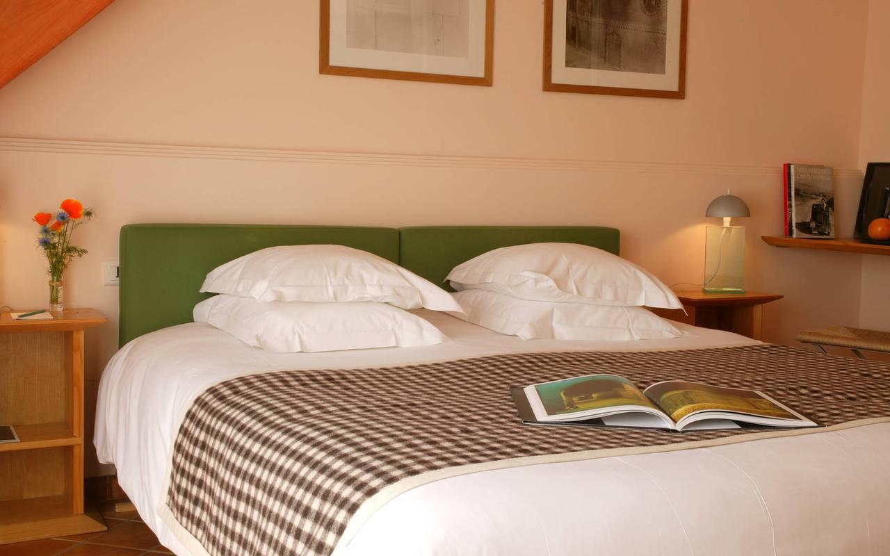 Chambre de charme avec lit double, hôtel à saint remy de provence, Hôtel de L'Image.