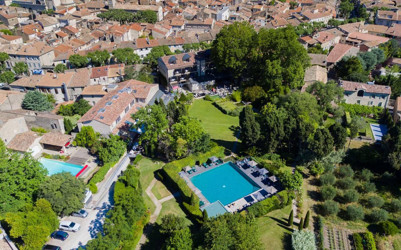 Vue du ciel hôtel de charme à Saint-Rémy-de-Provence