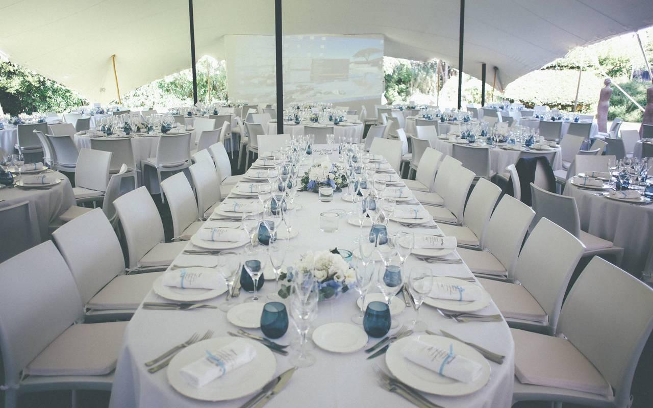 table de mariage hôtel de charme dans le sud de la France