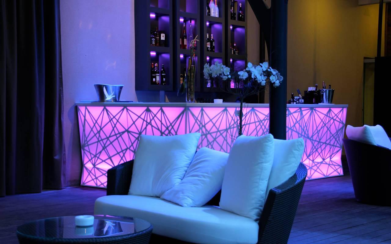 Bistrot lounge hôtel spa de luxe en Provence