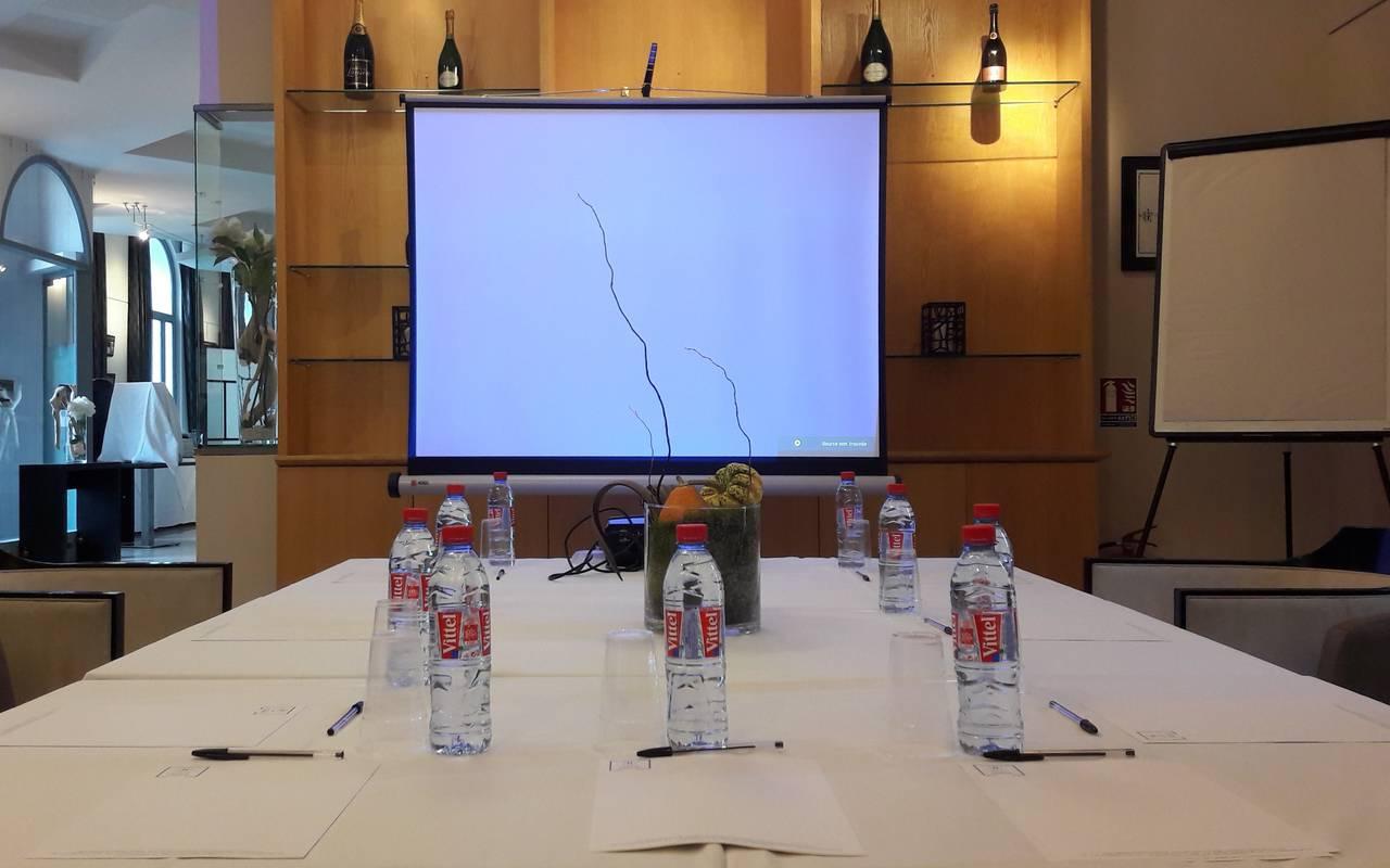 Salle de réunion tout confort avec écran, séminaire Saint-Rémy-de-Provence, Hôtel de L'Image.